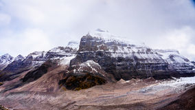 Mount Aberdeen and Fairview Mountain seen from the Plain of Six Glaciers Royalty Free Stock Image