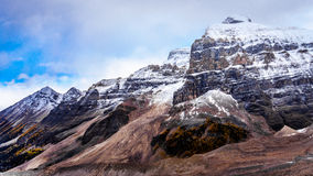 Mount Aberdeen and Fairview Mountain seen from the Plain of Six Glaciers Stock Images