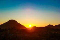 Mount Abu Sunrise. Exotic sunrise of Mount Abu/Rajasthan/India royalty free stock photo