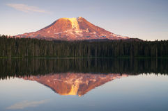 Mount Adams Sunset Mountain Lake Washington State Royalty Free Stock Images