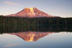 Mount Adams Sunset Mountain Lake Washington State Royalty Free Stock Images