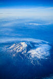 Mount Adams with Mount Hood. Mount Adams in foreground with Mount Hood in the distance Stock Photography