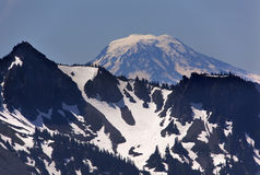Mount Adams from Sunrise Mount Rainier Stock Photography