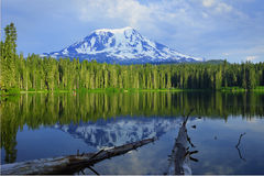 Mount Adams and Takhlakh Lake Royalty Free Stock Image