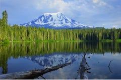 Mount Adams and Takhlakh Lake. Gifford Pinchot national forest Mount Adams and Takhlakh lake campground royalty free stock image