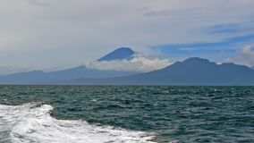 Mount Agung on Bali in Indonesia. From the Bali Sea Stock Photography