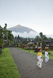Mount agung from besakih temple in bali, indonesia Stock Photography