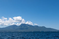 Mount Agung with ocean view in Bali, Indonesia Royalty Free Stock Photography