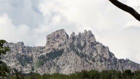 Mount Ai-Petri, Crimea. Timelipse stock footage
