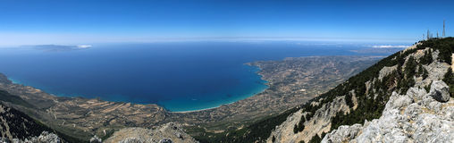 Mount Ainos of island Kefalonia, Greece Royalty Free Stock Photography