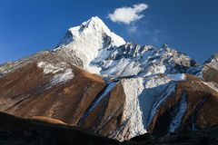 Mount Ama Dablam with beautiful sky Stock Images