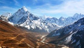 Mount Ama Dablam with beautiful sky royalty free stock photos