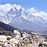 Mount Ama Dablam in Himalaya Royalty Free Stock Photos