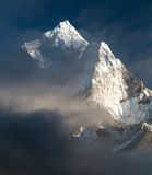 mount Ama Dablam - way to Everest base camp Stock Images