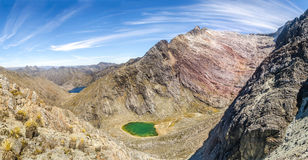 Mount Andes, Venezuela. Panoramic view of the lakes in the Venezuelan Andes Stock Photos