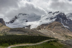 Mount Andromeda and mount Athabasca  in Jasper National Park Stock Photography