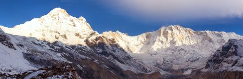 Mount Annapurna from Annapurna south base camp, Nepal Royalty Free Stock Photo