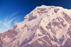 Mount Annapurna South at Dawn, Nepal. Image of Mount Annapurna South on the Dhaulagiri-Annapurna-Manaslu Himalayan Mountain Range, Nepal, taken at dawn royalty free stock photography