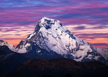 Mount Annapurna South, Nepal Himalaya stock images