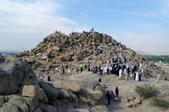 Mount Arafat of mercy (Jabal Rahmah) Stock Images
