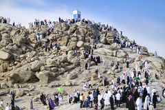 Mount Arafat of mercy (Jabal Rahmah) Stock Image