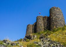 Mount Aragats Amberd Fortress Towers royalty free stock photo