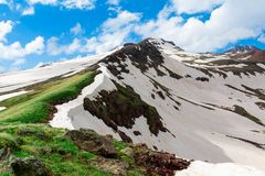 Mount Aragats, Armenia. Horizontal shot in the afternoon Stock Images