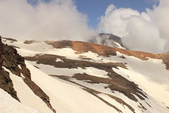 Mount Aragats (south and western peaks) Stock Photos