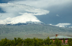 Mount Ararat. Famous Mount Ararat. Noah's Ark stock images