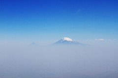 Mount Ararat in the fog Royalty Free Stock Photography