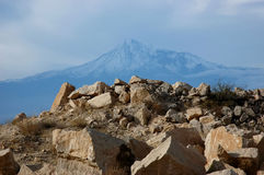 Mount Ararat. Holy mountains of Armenia. Fresh air Stock Image