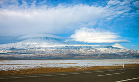 Mount Ararat. And little Ararat Stock Image