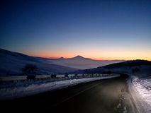Mount Ararat in the Night. Mount Masis Ararat in the night Royalty Free Stock Images