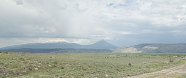 Mount Ararat. Panoramic view of the famous Mount Ararat Stock Photography