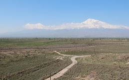 Mount Ararat. View from Armenia Royalty Free Stock Images