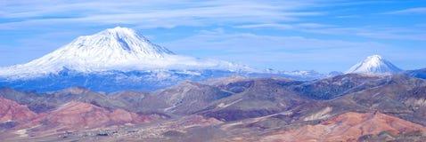 Mount Ararat. View of Mount Ararat from Mount Tendurek Royalty Free Stock Photos