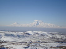 Mount Ararat in the Winter Stock Photography