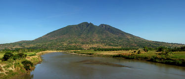 Mount Arayat Panorama Royalty Free Stock Photos