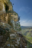 Mount Arbel  Cliff Cave Fortress. Mount Arbel Cliff Cave Fortress overlooking towards Mount Nitai and Nazareth, The Lower Galilee, Israel Royalty Free Stock Photography