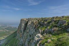 Mount Arbel Cliff Stock Photo