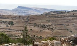 Mount Arbel in the Galilee in Northern Israel stock images