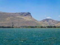 The Mount Arbel and Mount Nitai, Sea of Galilee in Lower Galilee, Israel Royalty Free Stock Photo