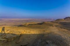 Mount  Ardon and Ramon crater scenery Stock Photos