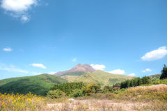 Mount Aso Kyushu, Japan Royaltyfri Bild
