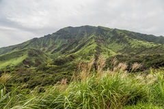 Mount Aso landscape which is active volcano in Kumamoto, Japan Stock Photography