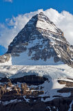Mount Assiniboine. Beautiful Mount Assiniboine in British Columbia in the Rocky Mountains of Canada Stock Photography