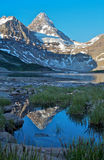 Mount Assiniboine. Beautiful Mount Assiniboine in British Columbia in the Rocky Mountains of Canada Royalty Free Stock Photos
