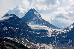 Mount Assiniboine. Beautiful Mount Assiniboine in British Columbia in the Rocky Mountains of Canada Stock Images