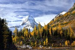 Mount Assiniboine in Canadian Rockies Royalty Free Stock Image