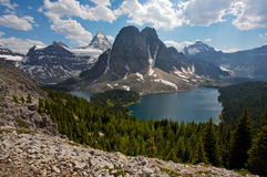 Mount Assiniboine and Cerulean Lake Stock Photography